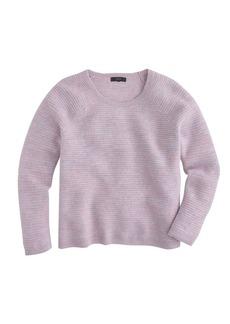 Boiled wool zip sweater