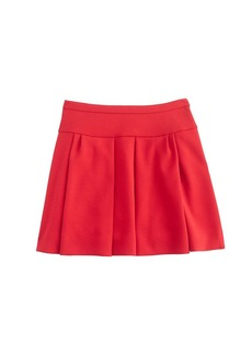 Box pleat skirt in crepe