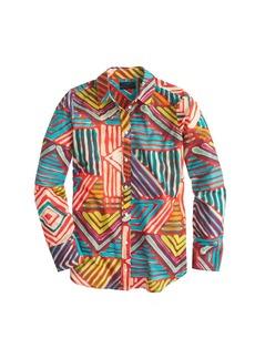 Boy shirt in geo brushstroke