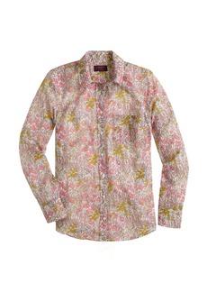 Boy shirt in Liberty tiny poppydot floral