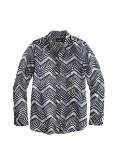 Boy shirt in multi chevron