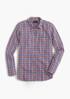 Boy shirt in pink and blue plaid