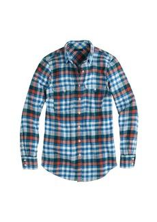 Boyfriend flannel shirt in horizon blue