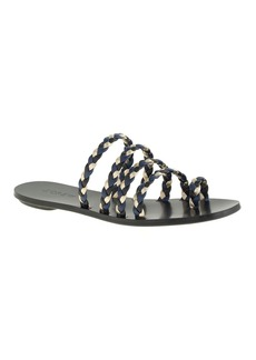 Braided toe-ring sandals