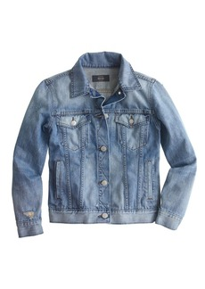 Broken-in jean jacket in Gregson wash