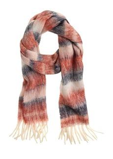 Brushed scarf in stripe