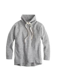 Brushed wool funnelneck sweatshirt