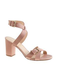 Buckled mid-heel sandals