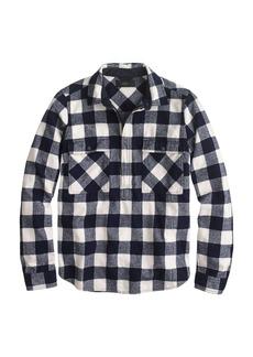 Buffalo check flannel shirt-jacket
