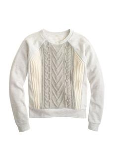 Cabled pom-pom sweatshirt