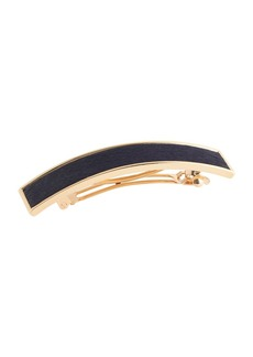 Calf hair barrette