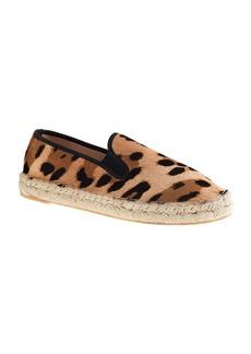 Calf hair espadrille slip-on sneakers