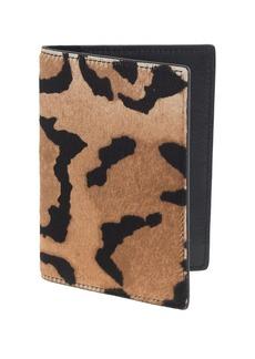 Calf hair passport case