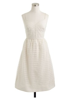 Cameron dress in stripe silk organza