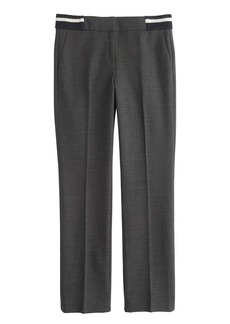 Campbell capri pant in bi-stretch wool with rib accents