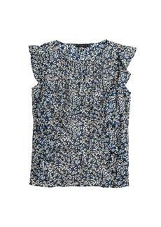Cascade blouse in blue floral