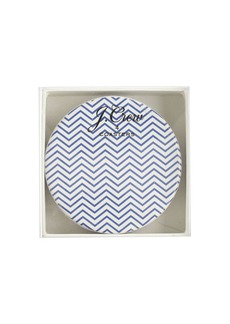 Ceramic chevron coasters