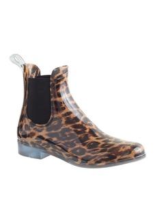 Chelsea leopard rain boots