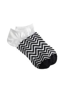Chevron ankle socks
