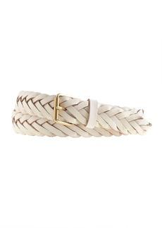 Chevron braided leather belt