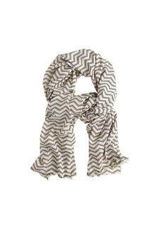 Chevron pinstripe scarf
