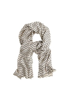 Chevron pinstriped scarf