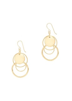 Circle charm earrings