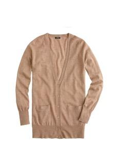 Classic merino wool long cardigan