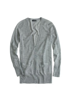 Classic merino wool long cardigan sweater
