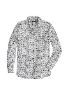 Classic silk blouse in key print