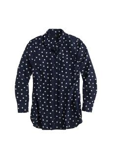 Classic silk blouse in ticktock print