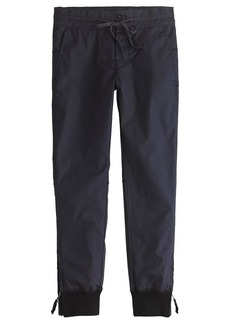 Coated cavalry twill pull-on pant