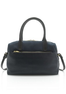 Colby satchel in mixed leather