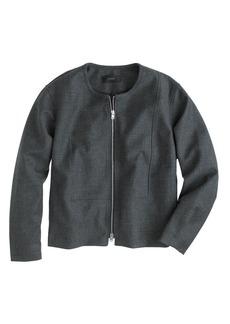 Collarless bib jacket