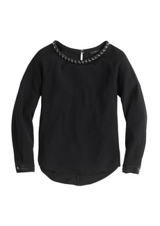 Collection beaded charmeuse top