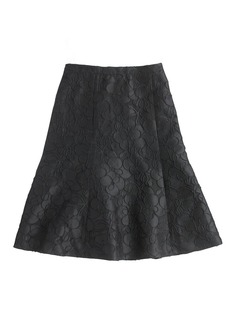 Collection black floral skirt