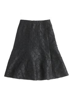 Collection black floral skirt