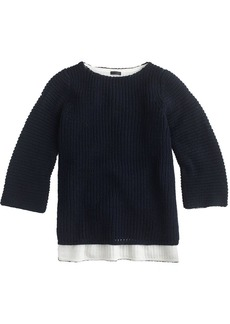 Collection bonded merino wool sweater