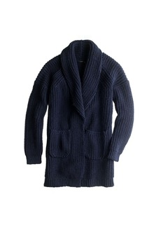 Collection bonded wool sweater-jacket