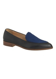 Collection calf hair and leather loafers