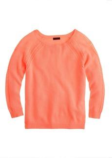 Collection cashmere open-stitch raglan sweater