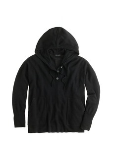 Collection cashmere patch-pocket hoodie
