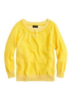 Collection cashmere plaited sweatshirt