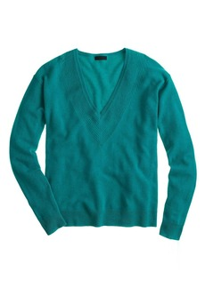 Collection cashmere pointelle V-neck sweater