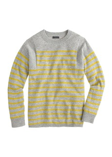 Collection cashmere seamed sweater in stripe
