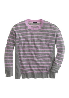 Collection cashmere side-panel sweater in stripe