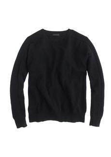 Collection cashmere textured boyfriend sweater