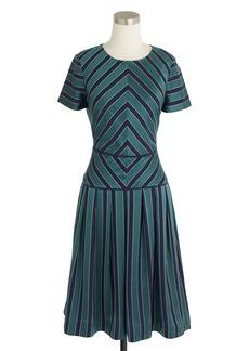 Collection chevron-stripe silk dress