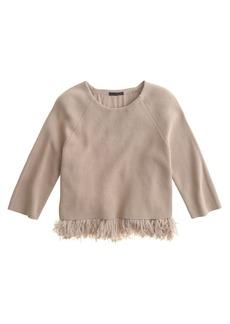 Collection chiffon fringe sweater