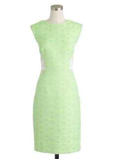 Collection citrus jacquard tweed dress